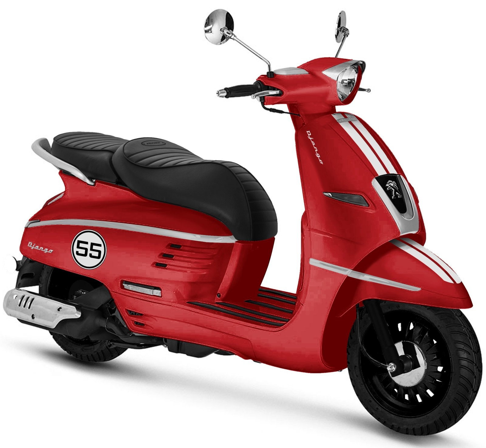 Django 125i Sport - Satin Cherry Red